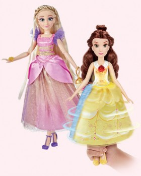 NEW-Disney-Princess-Spin-and-Switch-Fashion-Dolls on sale