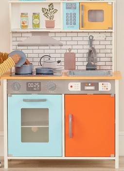 NEW-Teamson-Wooden-Play-Kitchen on sale