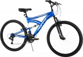 Huffy-Rock-Creek-66cm-Dual-Suspension-18-Speed-Mountain-Bike-Mens on sale