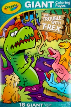NEW-Crayola-Trouble-with-T-Rex-Giant-Colouring-Pages on sale