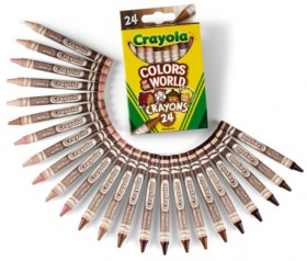 NEW-Crayola-24-Pack-Colours-of-the-World-Crayons on sale