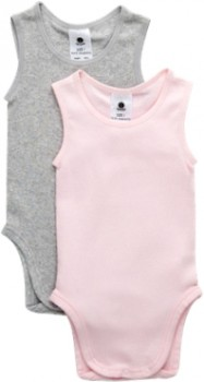 Dymples-2-Pack-Singletsuit-Light-Pink on sale
