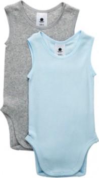 Dymples-2-Pack-Singletsuit-Light-Blue on sale