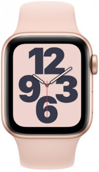 Apple-Watch-SE-GPS-40mm-Gold-Aluminium-with-Pink-Sports-Band on sale