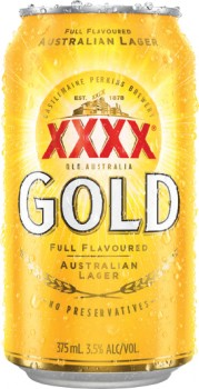 XXXX-Gold-Block-Cans-375mL-30-Pack on sale