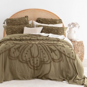 Amal-Olive-Bed-Cover-Set-by-Habitat on sale