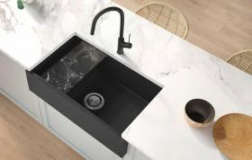 NEW-Oliveri-Santorini-Farmhouse-Sink-Black on sale