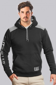 CAT-Logo-Panel-Hooded-Sweatshirt on sale