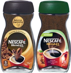 Nescaf-Blend-43-Instant-Coffee-140g-150g on sale