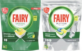 Fairy-Platinum-Dishwashing-Tablets-41-Pack-or-All-In-One-48-Pack on sale