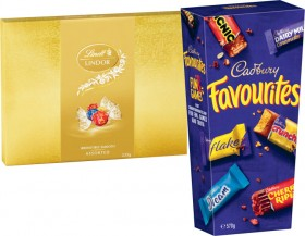 Lindt-Lindor-Gift-Box-235g-or-Cadbury-Favourites-Boxed-Chocolate-570g on sale