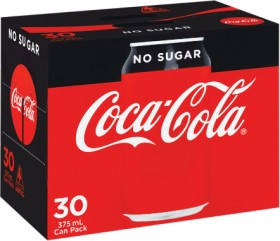 Coca-Cola-Classic-No-Sugar-or-Diet-Soft-Drink-Can-Varieties-30-x-375ml on sale