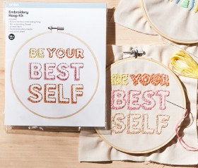 Embroidery-Hoop-Kit-Be-Your-Best-Self on sale