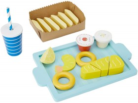 18-Piece-Wooden-Fish-Chips-Set on sale